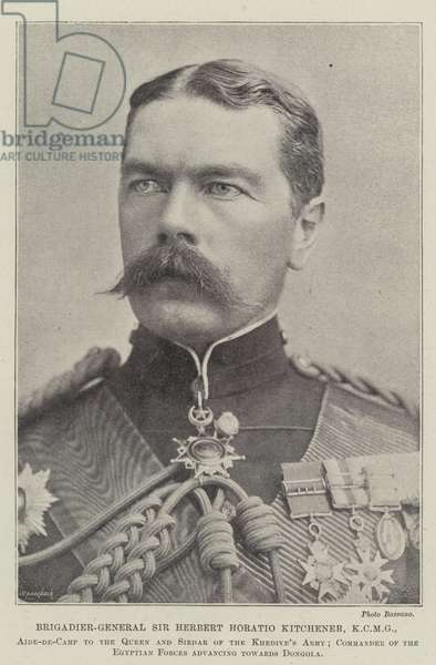 Brigadier-General Sir Herbert Horatio Kitchener, KCMG (b/w photo)