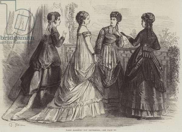 Paris Fashions for September (engraving)