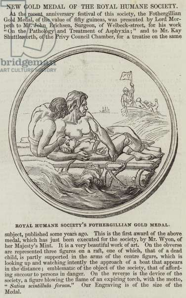 New Gold Medal of the Royal Humane Society (engraving)