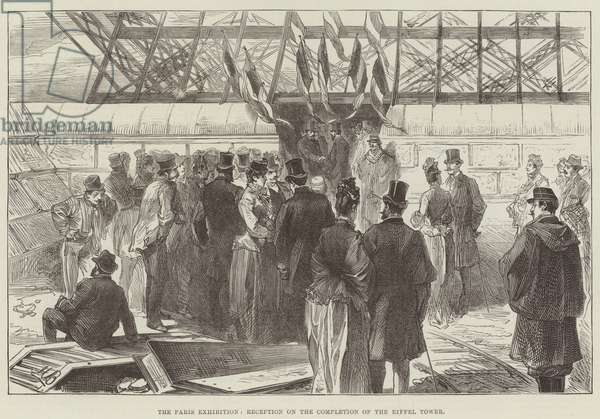The Paris Exhibition, Reception on the Completion of the Eiffel Tower (engraving)