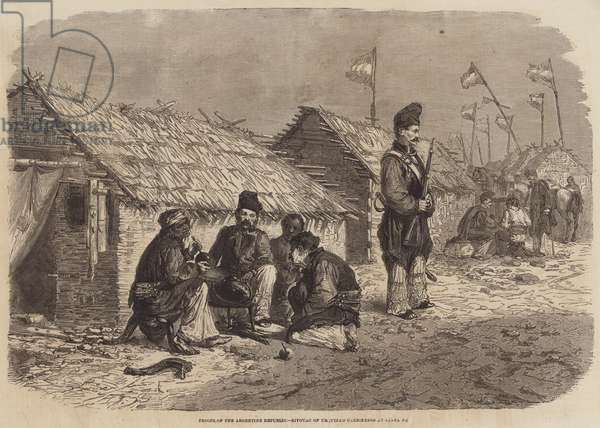 Troops of the Argentine Republic, Bivouac of Urquiza's Carbineers at Santa Fe (engraving)