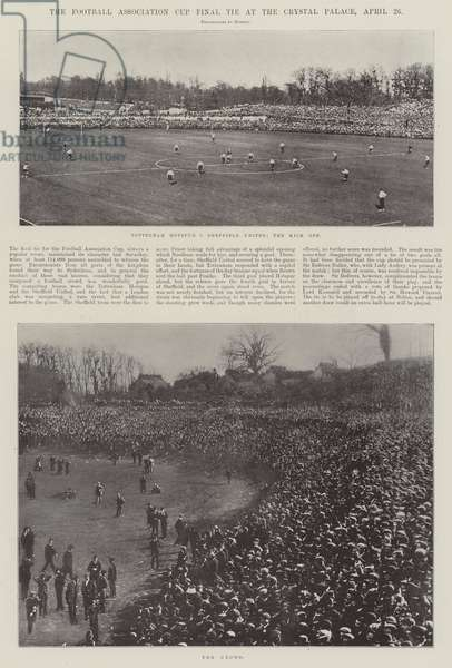 The Football Association Cup Final Tie at the Crystal Palace, 20 April (b/w photo)