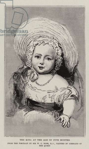 The King at the age of five months (engraving)