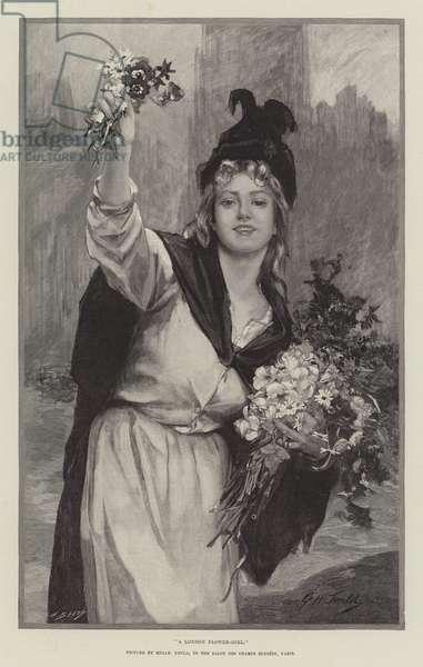 A London Flower-Girl (engraving)