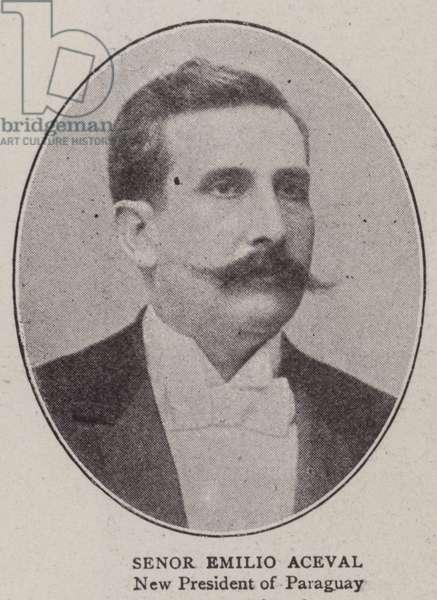 Senor Emilio Aceval (b/w photo)