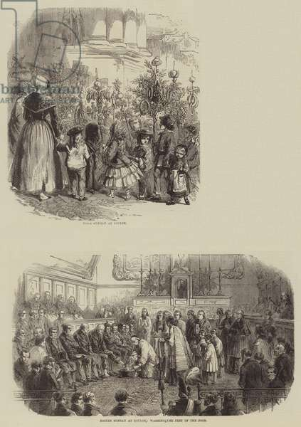 Easter Sunday at Toulon (engraving)