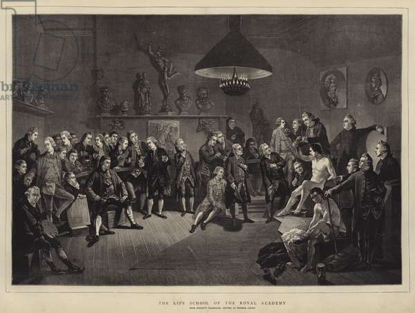 The Life School of the Royal Academy (engraving)