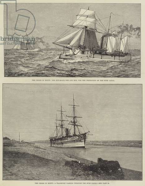 The Crisis in Egypt (engraving)