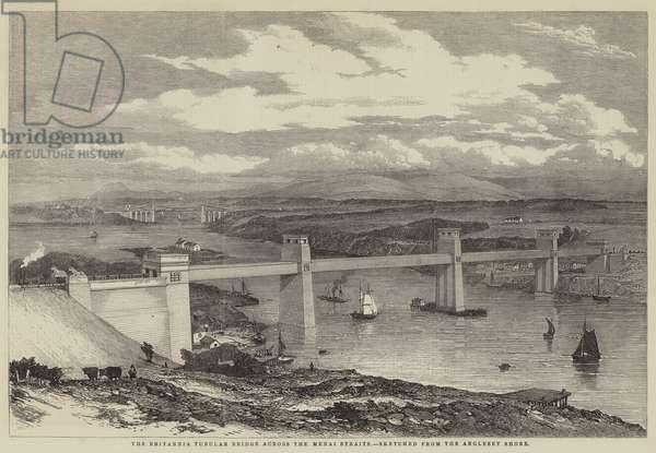 The Britannia Tubular Bridge across the Menai Straits (engraving)