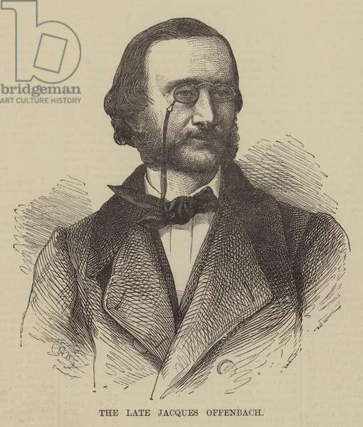 The late Jacques Offenbach (engraving)