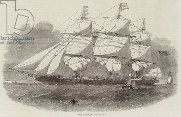 """The Gauntlet"" Clipper Ship (engraving)"