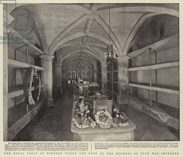 The Royal Vault at Windsor where the Body of the Duchess of Teck was interred (b/w photo)