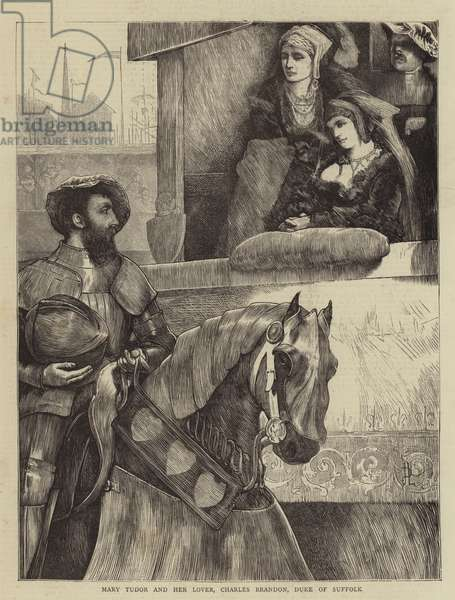 Mary Tudor and her Lover, Charles Brandon, Duke of Suffolk (engraving)