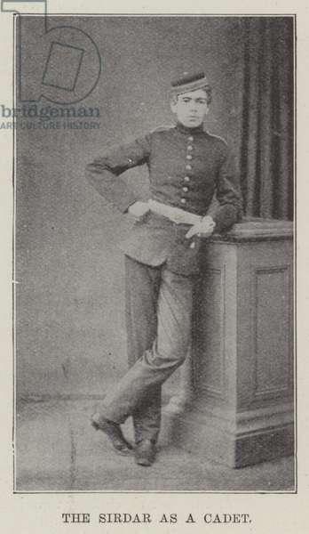 The Sirdar as a Cadet (engraving)