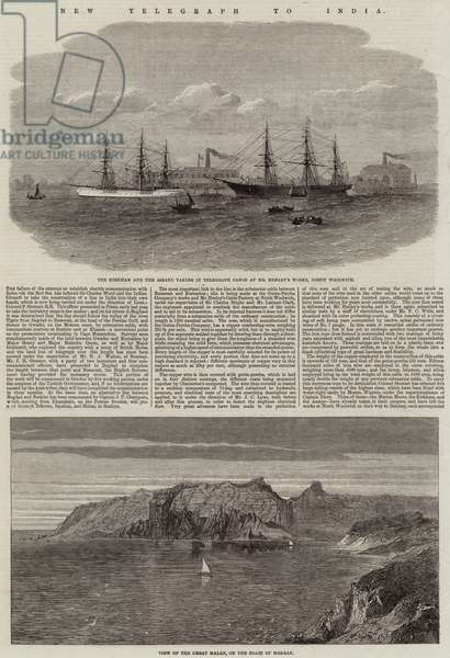 New Telegraph to India (engraving)