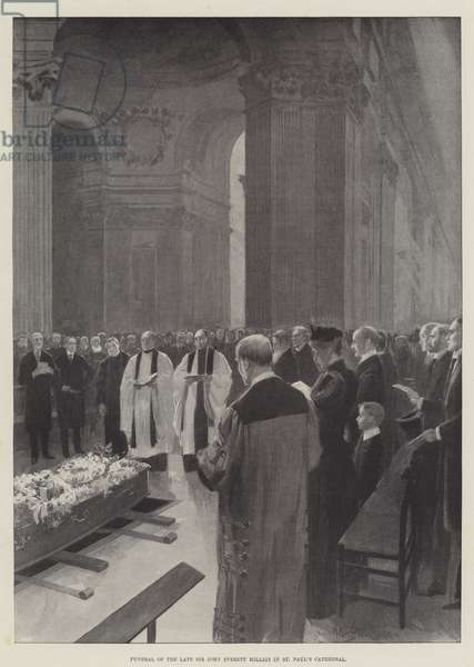 Funeral of the late Sir John Everett Millais in St Paul's Cathedral (engraving)