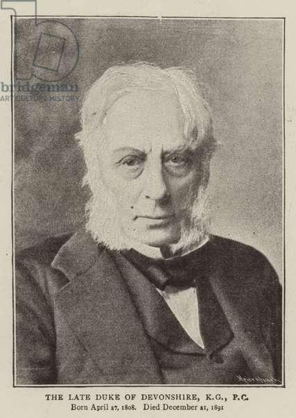 The Late Duke of Devonshire, KG, PC (b/w photo)