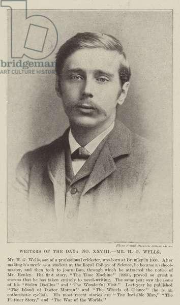 Mr H G Wells (b/w photo)