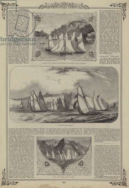 Cowes, Isle Of Wight, Regatta of the Royal Yacht Squadron (engraving)