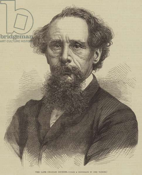 The late Charles Dickens (engraving)