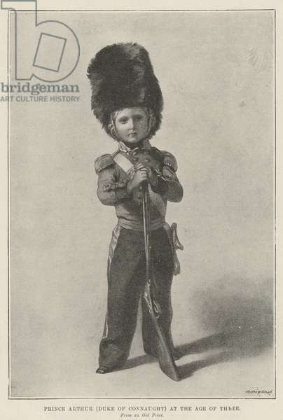 Prince Arthur (Duke of Connaught) at the Age of Three (litho)