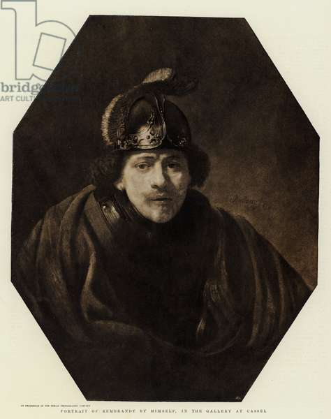 Portrait of Rembrandt by himself, in the Gallery at Cassel (litho)