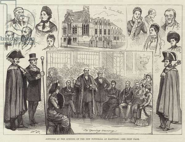 Jottings at the Opening of the New Townhall at Hastings (engraving)
