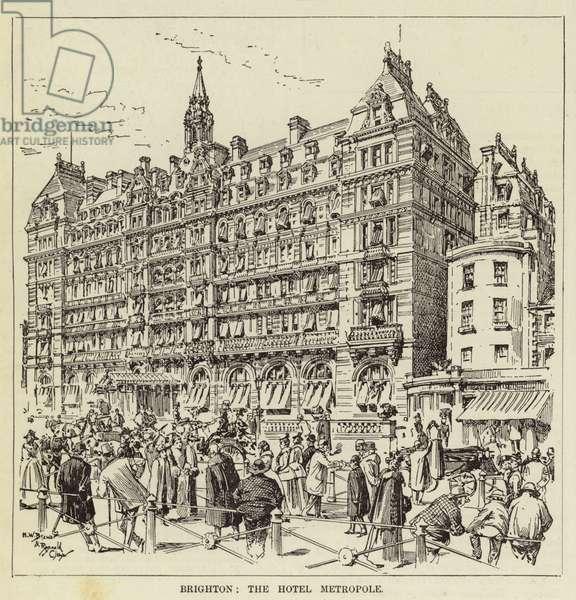 Brighton, the Hotel Metropole (engraving)