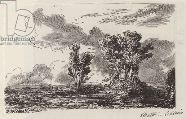 Sketch by the Late Mr Wilkie Collins (engraving)