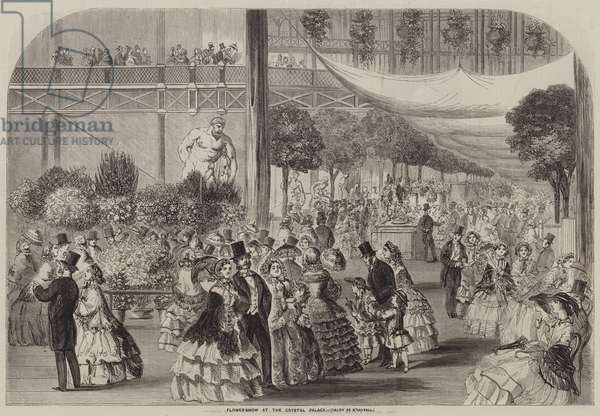 Flower-Show at the Crystal Palace (engraving)