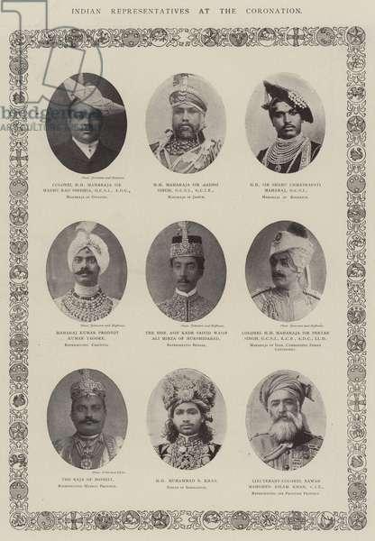 Indian Representatives at the Coronation (b/w photo)