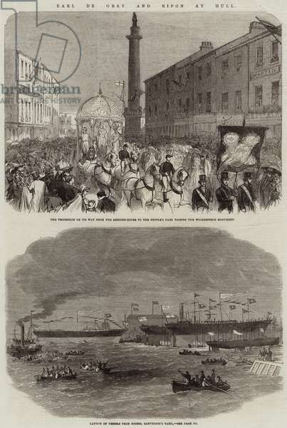 Earl de Grey and Ripon at Hull (engraving)