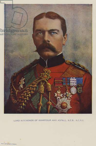 Lord Kitchener of Khartoum and Aspall, KCB, KCMG (chromolitho)