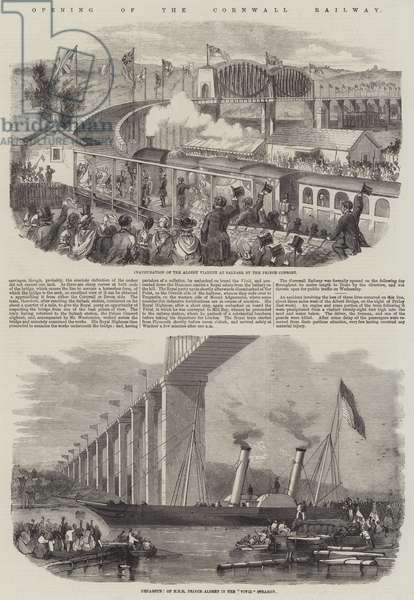 Opening of the Cornwall Railway (engraving)