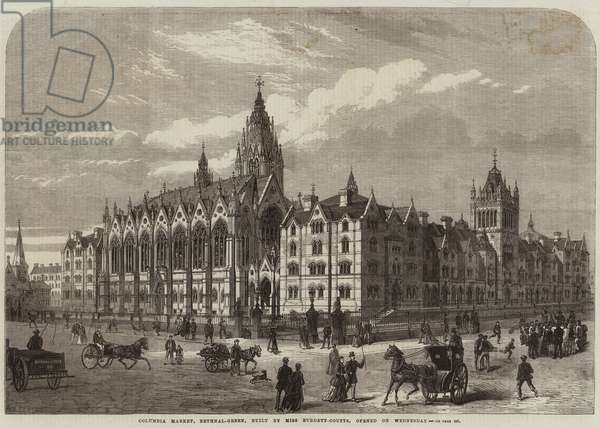 Columbia Market, Bethnal-Green, built by Miss Burdett-Coutts, opened on Wednesday (engraving)