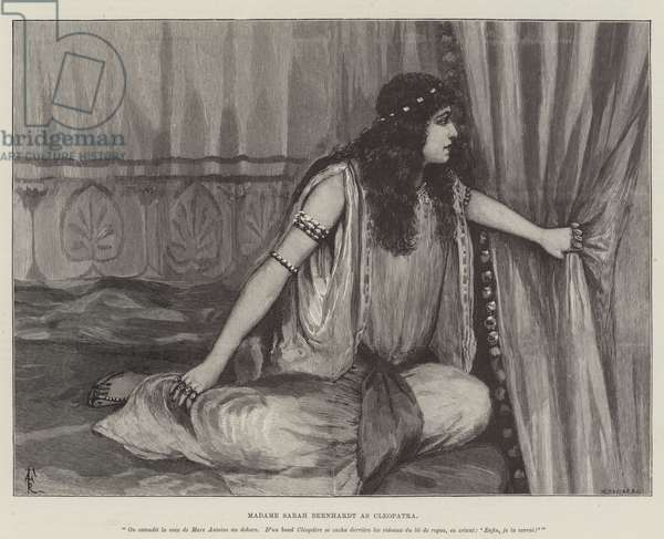 Madame Sarah Bernhardt as Cleopatra (engraving)