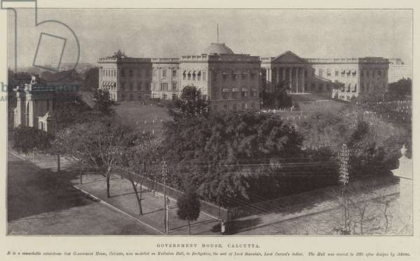 Government House, Calcutta (b/w photo)