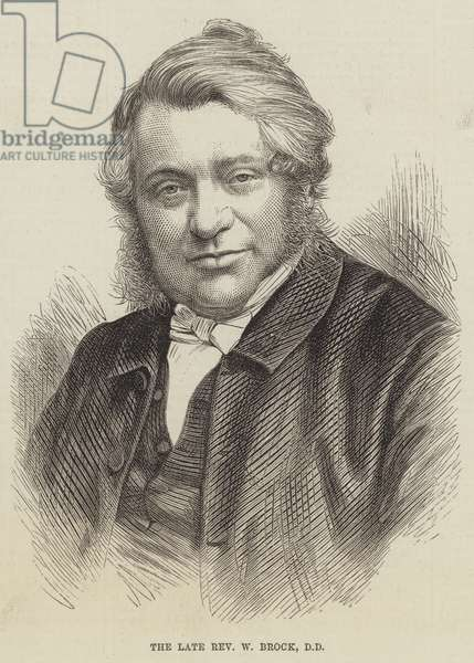The late Reverend W Brock, DD (engraving)