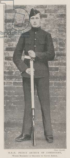 HRH Prince Arthur of Connaught, whose Regiment is ordered to South Africa (b/w photo)