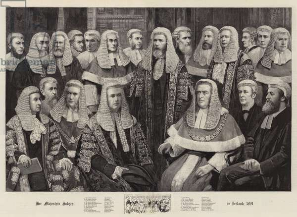 Her Majesty's Judges in Ireland, 1891 (engraving)