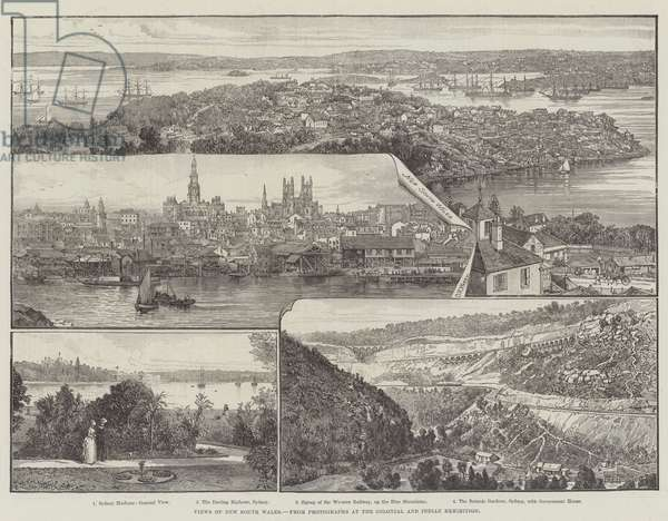 Views of New South Wales, Australia 1886 (engraving)