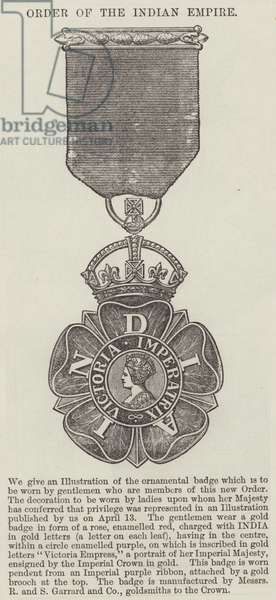 Order of the Indian Empire (engraving)
