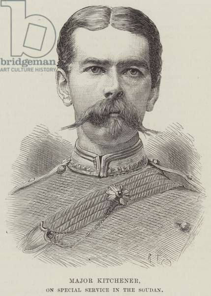 Major Kitchener, on Special Service in the Soudan (engraving)