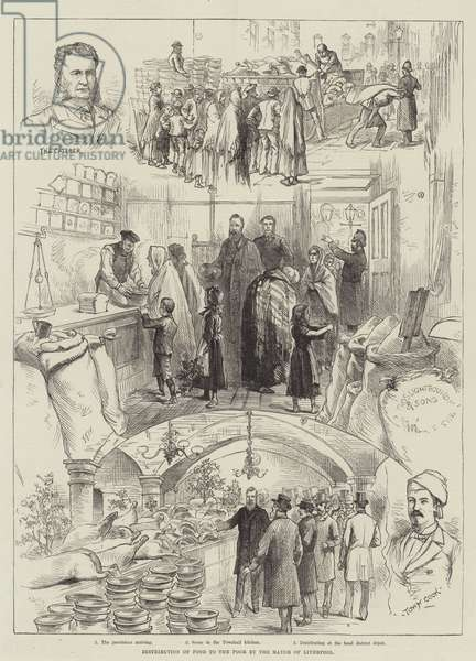 Distribution of Food to the Poor by the Mayor of Liverpool (engraving)