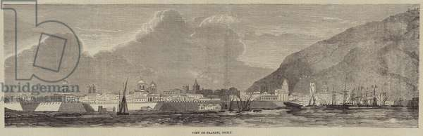 View of Trapani, Sicily (engraving)