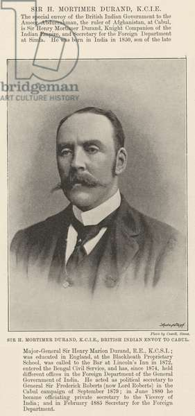 Sir H Mortimer Durand, KCIE, British Indian Envoy to Cabul (b/w photo)