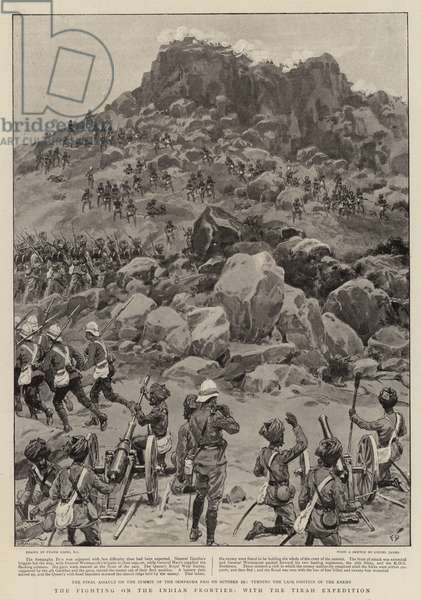 The Fighting on the Indian Frontier, with the Tirah Expedition (litho)