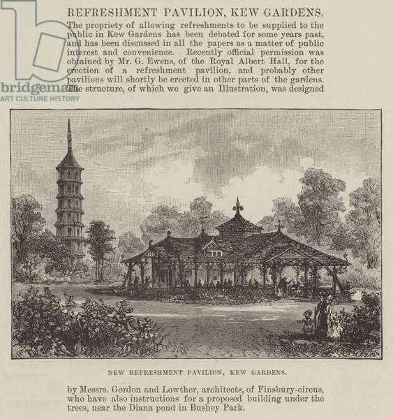 New Refreshment Pavilion, Kew Gardens (engraving)