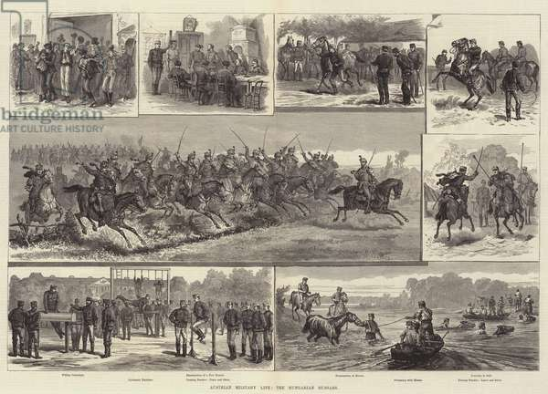 Austrian Military Life, the Hungarian Hussars (engraving)