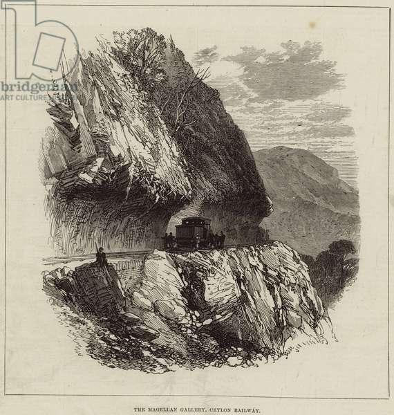The Magellan Gallery, Ceylon Railway (engraving)
